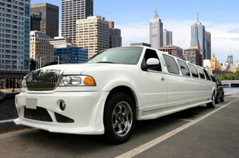 Photo of a stretched SUV limo
