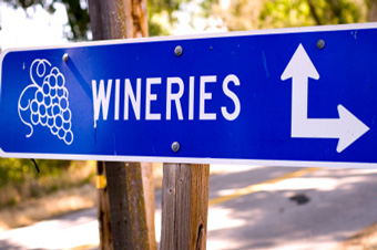 Photo of Wineries sign
