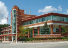 A Photo of Town Hall in Aurora, Ontario
