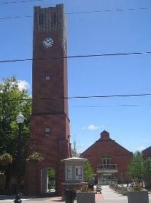 A Photo of a Clock Tower in Ballantrae, Ontario
