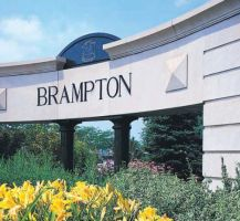 A Photo of a Bramalea, Ontario City Sign