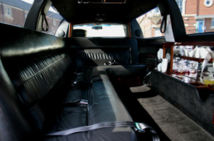 Photo of inside a limo