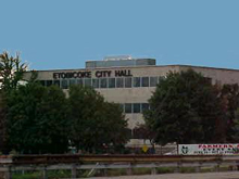 The city hall of Etobicoke, Ontario