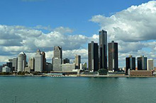 Photo of the Detroit financial district from Detroit, Ontario