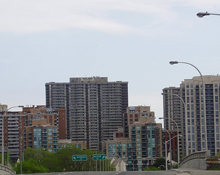 The skyline of Etobicoke, Ontario