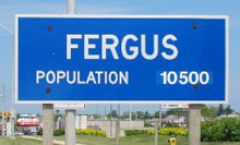 Photo of a city sign in Fergus, Ontario