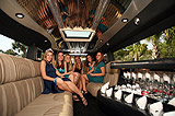 Girls party it up inside a stretch limo they rented for a Brampton night out on the town!