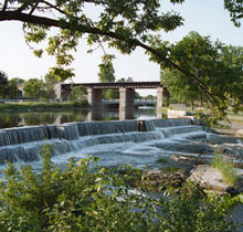A Photo of a Downtown park in Greater Napanee, Ontario