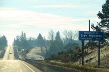 Photo of Grey Highlands, Ontario road sign