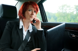 Business Woman in a Limousine