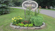 Photo of Norval village sign