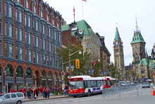 A photo of the Elgin Street in Ottawa, Ontario