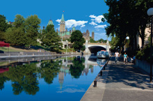 A photo of the Rideau Canal in Ottawa, Ontario
