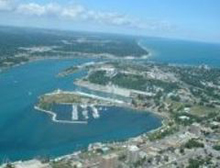 Photo of Sarnia, Ontario from the plane