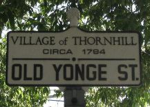 A Photo of a Street Sign, Thornhill Ontario