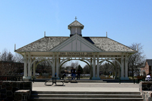 A photo of a Millenium Bandstand in Unionville, Ontario
