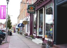 A Photo of the Downtown in Uxbridge, Ontario