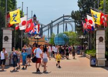 A Photo of People At Canada's Wonderland Amusement Park, Vaughan Ontario