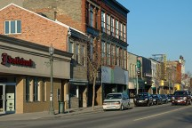 A Photo of the downtown in Woodstock, Ontario